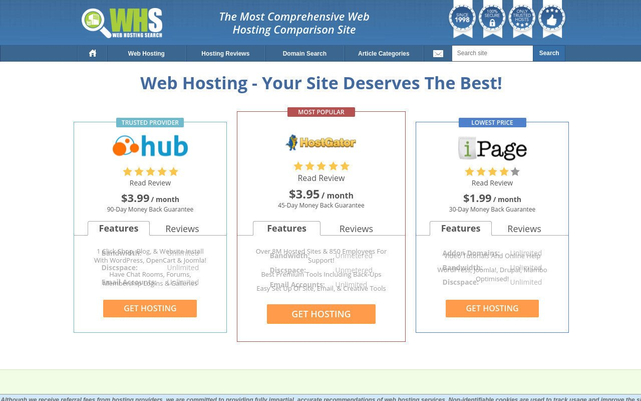 Web Hosting Search
